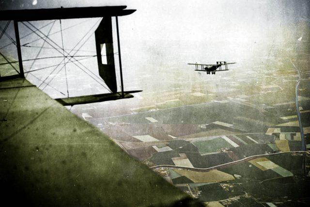 Dva brutské bombardéry 0/400 Handley-Page na západní frontě 1918