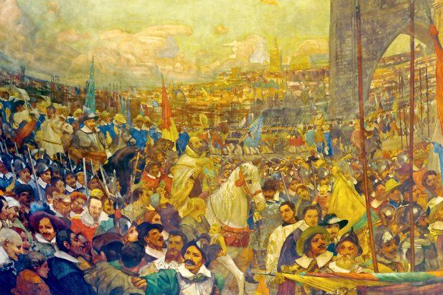 Výjev z Prahy na stropě v Santa Maria della Vittoria v Římě | foto:  Livioandronico2013,  Wikimedia Commons,  CC BY-SA 4.0