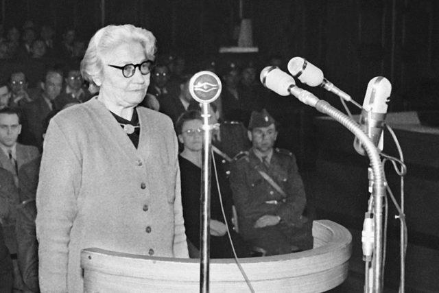 Františka ( Fráňa) Zeminová: výslech u soudu během politického procesu (31. 5. 1950)