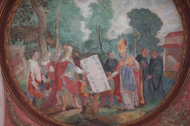G. Vincentini: Založení břevnovského kláštera sv. biskupem Vojtěchem a Boleslavem II.