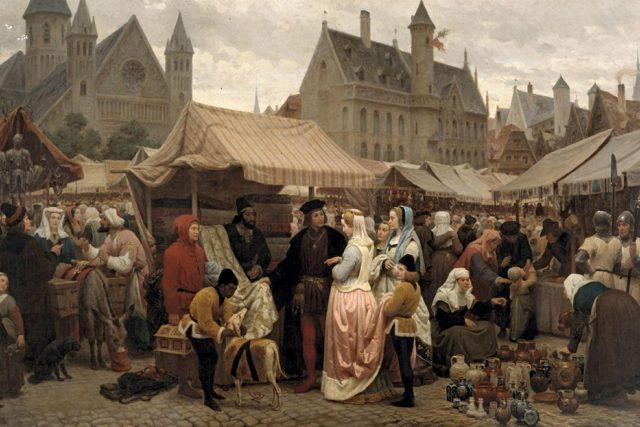 Středověké tržiště | foto: Wikimedia Commons,  CC0 1.0