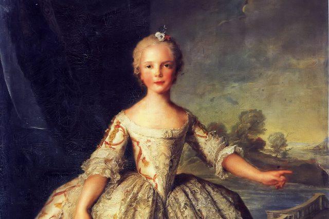 Isabella Parmská jako dítě
