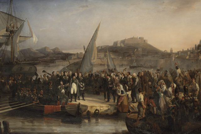 Napoleon opouští Elbu   foto: Joseph Beaume,  Wikimedia Commons,  CC0 1.0