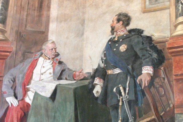 Setkání Radeckého s Victorem Emmanuelem II.