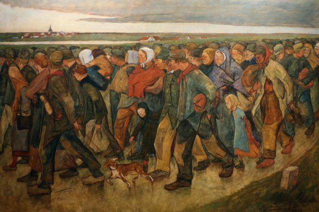 Emigranti | foto: Eugène Laermans,  Wikimedia Commons,  CC0 1.0