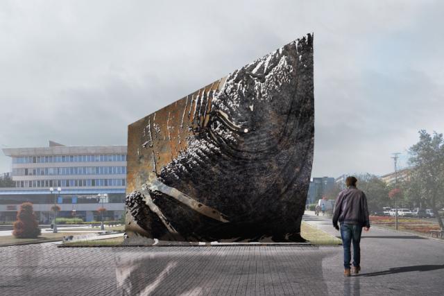 Vítězný návrh památníku hornických tradic a obětí důlních neštěstí v Mostě   foto: Jakub Klaška,  Město Most