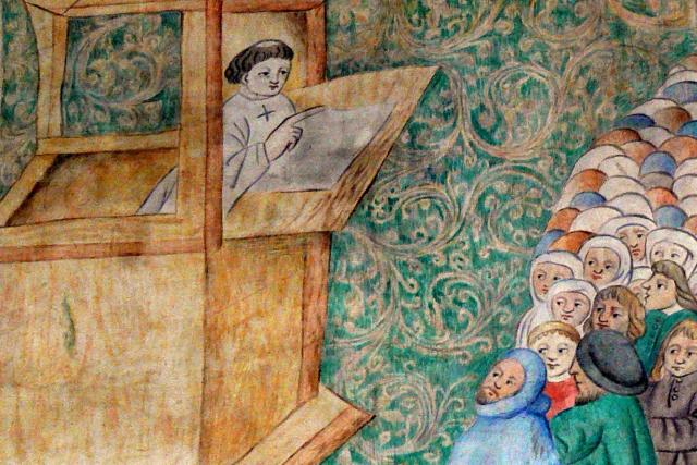 Jan Hus káže v Betlémské kapli | foto: Wolfgang Sauber,  Wikimedia Commons,  CC BY-SA 3.0