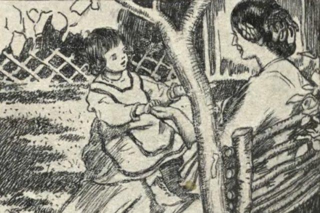 Ilustrace na obálce knihy Božena Němcová maličkým