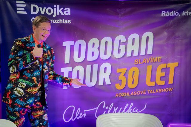 Aleš Cibulka a oslava 30 let Toboganu | foto: Khalil Baalbaki,  Český rozhlas