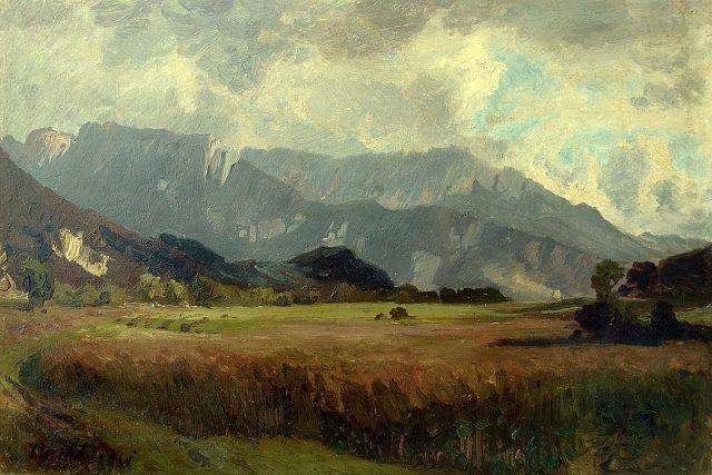 Slovenská krajina pod Tatrami | foto: Antonín Chittussi,  Wikimedia Commons,  CC0 1.0