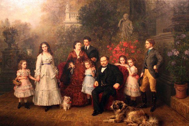 Strousberg s rodinou   foto: Knaus Ludwig,  Wikimedia Commons,  CC0 1.0