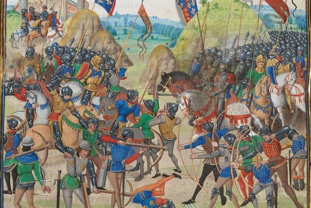 Jean Froissart: Bitva u Kresčaku | foto: Wikimedia Commons,  CC0 1.0