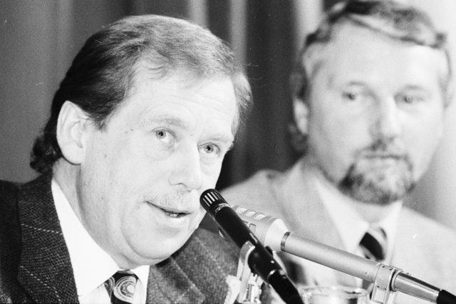 Václav Havel a Ladislav Špaček v březnu 1993