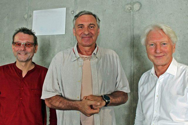 Ladislav a Radim Špačkovi a moderátor Jan Čenský