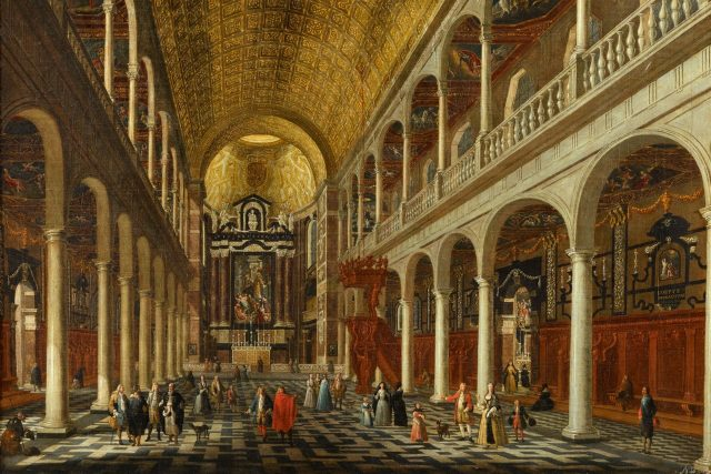 Interiér jezuitského kostela