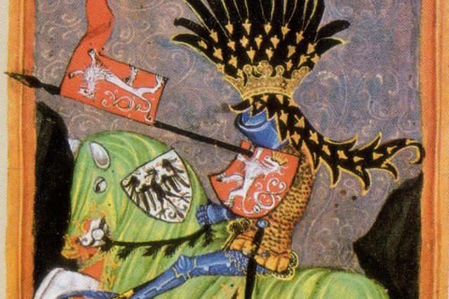 Jezdecký portrét Václava I. v Gelhausenově kodexu | foto: Wikimedia Commons,  CC0 1.0