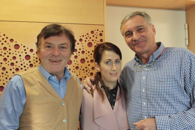 Pavel a Monika Trávníčkovi s moderátorem Janem Čenským
