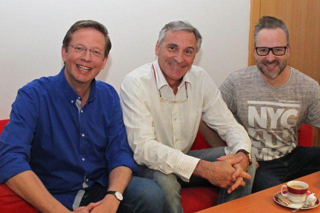 Aleš Cibulka, Michal Jagelka a moderátor Jan Čenský