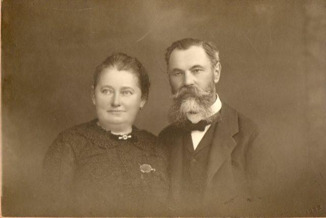 Antonín Dvořák s manželkou Josefou roz. Toufarovou
