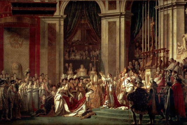Korunovace Napoleona Bonaparte | foto: Jacques-Louis David,  Wikimedia Commons,  CC0 1.0