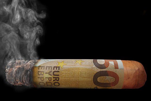 Euro jako doutník