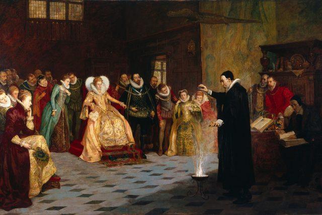 John Dee před Alžbětou I.