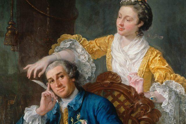 William Hogarth: David_Garrick a jeho žena Eva-Maria Veigel