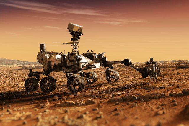 Takhle nějak může vypadat vozítko při práci na Marsu | foto: Shutterstock