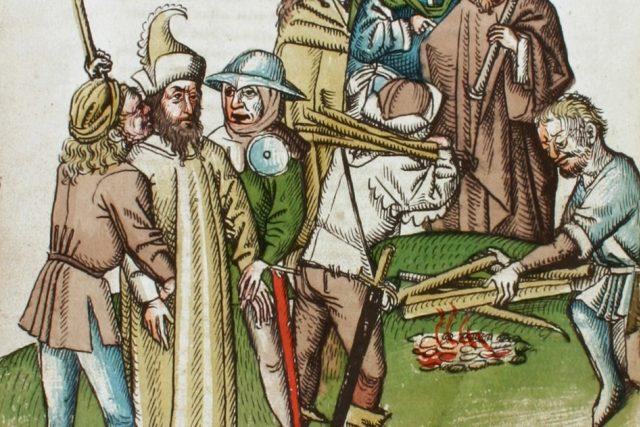 Jeroným Pražský přiváděný k hranici   foto:  Ulrich von Richenthal,  Wikimedia Commons,  CC0 1.0