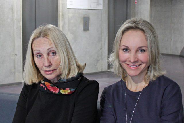 Olga Sommerová a moderátorka Jitka Novotná