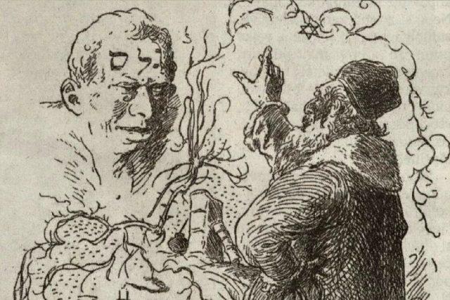Rabbi Löw oživuje Golema | foto: Mikoláš Aleš,  Wikimedia Commons,  CC0 1.0