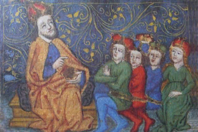 Vita Caroli - Karel IV. uděluje poučení svým nástupcům