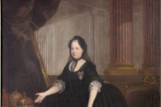Marie Terezie velmi trpěla ztrátou manžela a do své smrti chodila v černém