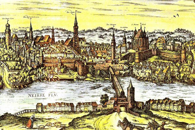 Pohled na město Zhořelec od východu,  1575 | foto: Frans Hogenberg,  Wikimedia Commons,  CC0 1.0