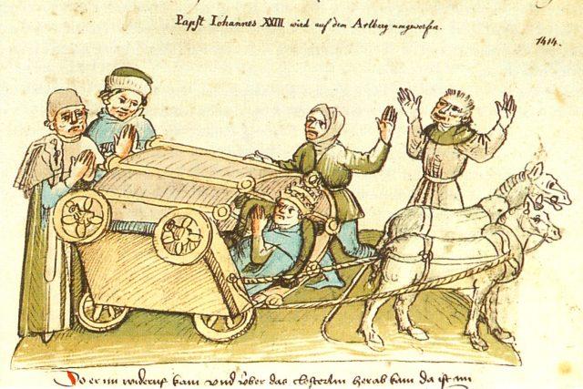 Útěk vzdoropapeže Jana XXIII. | foto:  Ulrich von Richenthal,  Wikimedia Commons,  CC0 1.0