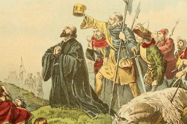 Jan Hus před hranicí | foto: Flickr,  Internet Archive Book Images,  CC0 1.0