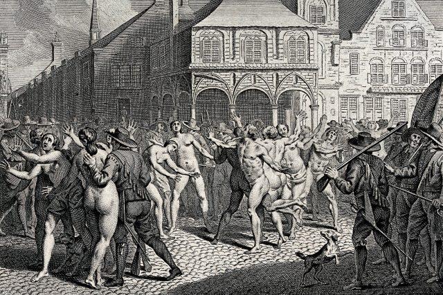 Perzekvovaní adamité v Amsterdamu | foto: Wikimedia Commons,  CC0 1.0