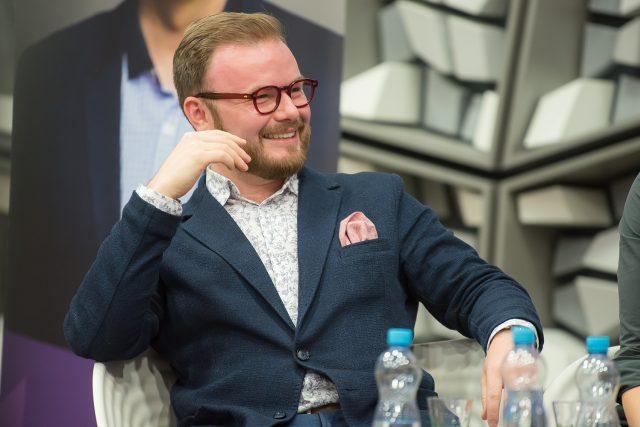 Jan Smigmator během Toboganu živě na Dni otevřených dveří Českého rozhlasu 2019
