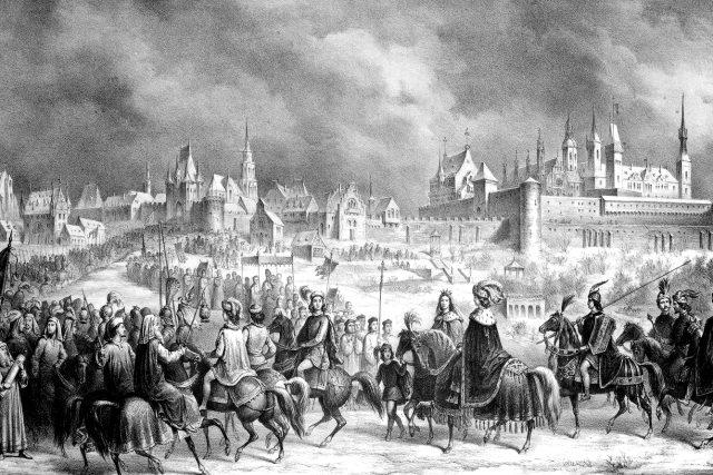 Matyáš Korvín a Beatrice Aragonská vjíždějí do Budína (1476)
