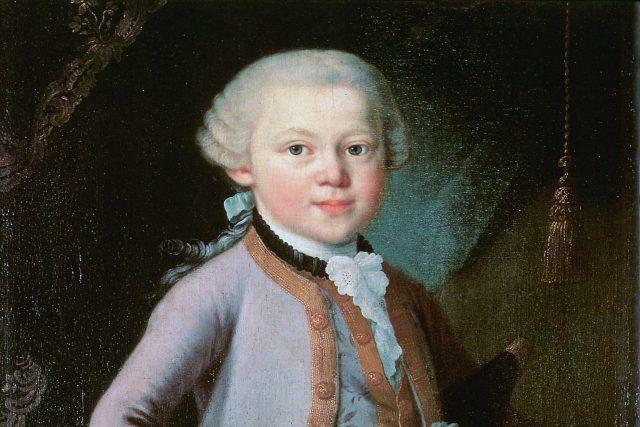 Portrét Mozarta v době dětství | foto: Wikimedia Commons,  CC0 1.0
