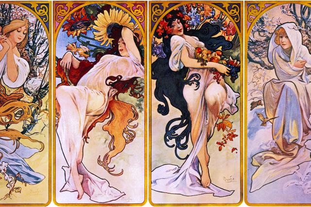 Alfons Mucha: Čtyři roční období (1897)