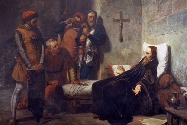 Gamba Giovanni: Jan Hus ve vězení   foto: Wikimedia Commons