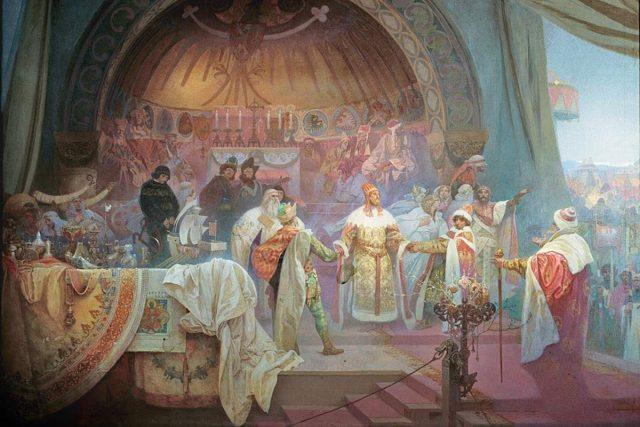 Přemysl Otakar II. | foto: Alfons Mucha,  Wikimedia Commons