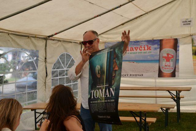 Návštěvníci Slavonice Festu měli jako první možnost vidět nový český film Toman. Na snímku režisér Ondřej Trojan