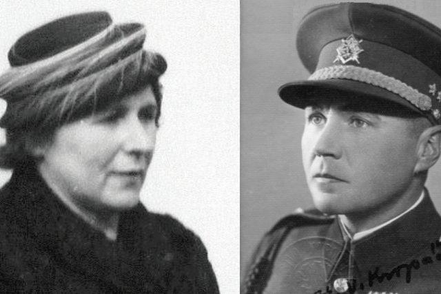 Božena Kropáčková a její manžel Václav Kropáček