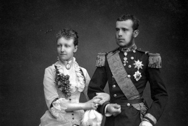 Korunní princ Rudolf a Štěpánka Belgická | foto: Geruzet Fréres,  Wikimedia Commons,  CC0 1.0