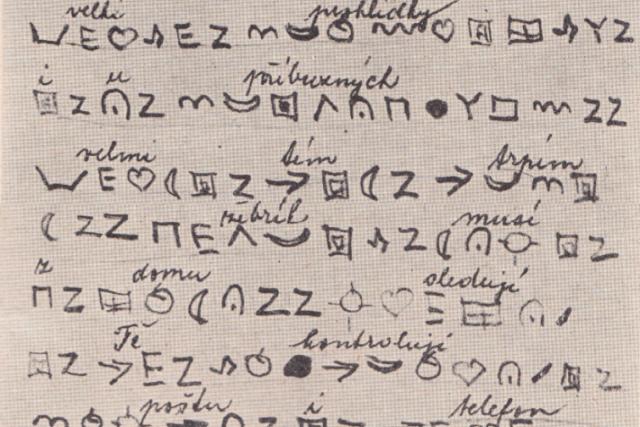 Část vzkazu,  který psal Otakar Kunát matce z psychatrické léčebny   foto: Muzeum Policie ČR -  (5097762)