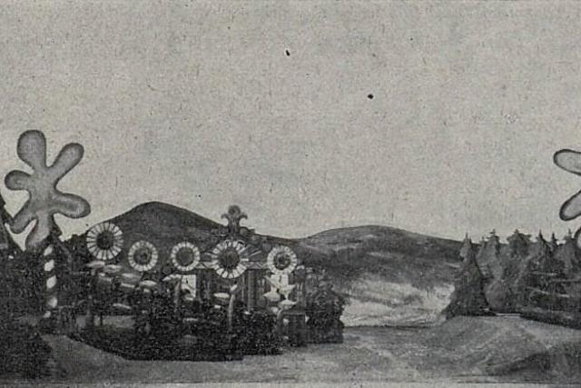 Scéna Josefa Čapka pro operu Příhody lišky Bystroušky (1925)