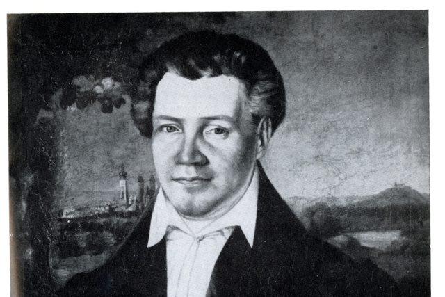 Podobizna Václava Klimenta Klicpery snad od Antonína Machka | foto: Provenio – virtuální rekonstrukce knižních celků