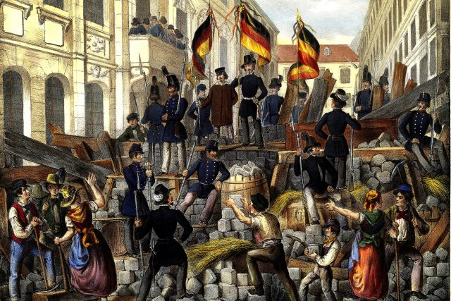 Vídeň v květnu roku 1848